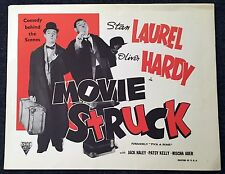 LAUREL AND HARDY MOVIE STRUCK R54 Astor LOBBY CARD SET Pick a Star RARE