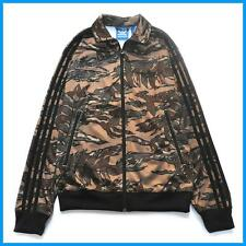 Adidas Men's Slim Firebird Track Jacket Camo Hemp (S18696) - L