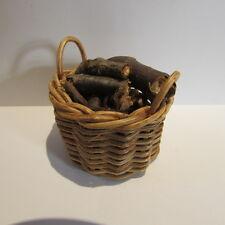 Journaux de log panier & ~ ~ miniature maison poupée 1/12 scale