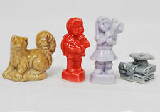 4 Wade England Figurines: Squirrel, Red Cupid,  Girl holding flowers, Graduation