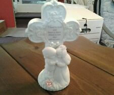 Precious moments figurine 135860/l  wedding cross plaque