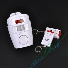 Wireless Infrared Motion Move Detector Sensor Burglar Alarm System With 2 Remote