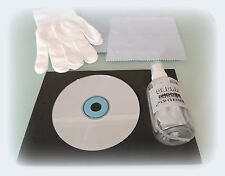 PRECISION CD CLEANER DELUXE KIT with 3 x cloths gloves cleaning mat fluid