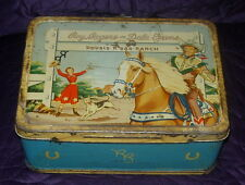 ROY ROGERS AND DALE EVANS  METAL LUNCH BOX  C. 1950'S  AMERICAN THERMOS