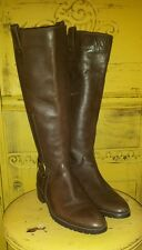 FRANCO SARTO SKELTER BROWN SOFT LEATHER TALL RIDING BOOTS HARNESS EQUESTRIAN 8 M