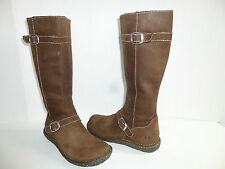 Born Womens Tall Boots Brown Nubuck Leather Buckle Knee High Boots Womens 7