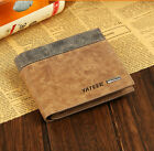Leather Bifold Wallet ID Business Credit Card Holder Purse Clutch Pockets Men's