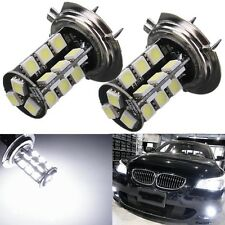 2X H7 27 SMD 5050 LED Car CANBUS Error Free Superbright Blanco Fog Bombilla luz
