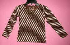 Mustard Pie Henley Top - Brown/Cream Dots size 6X