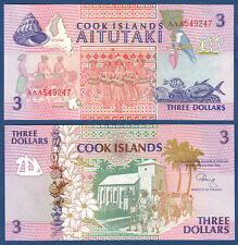 COOK ISLANDS 3 Dollars (1992)  UNC  P.7