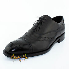 PRADA BLACK CALF RILUX LEATHER LACED OXFORD SHOES 2EB094 NEW 11 US 44 EU