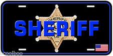 Sheriff USA Black Novelty Aluminum Auto License Plate 6PT