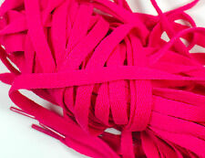 """New! 1 Pair Set Hot Pink Shoelaces Shoe Strings Lace Sneakers Flat 47"""" Long"""