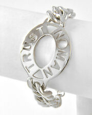 Statement  Celebrity Chunky Silver Trust No Man Bracelet - Rocks Boutique