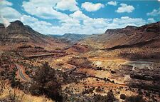 SHOWLOW~GLOBE ARIZONA ROUTE 60~SALT RIVER CANYON POSTCARD 1959