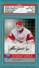 2008 U.D. Be a Player Chris Osgood Auto Issue - #S-CO  PSA 8.5! Red Wings! POP 1