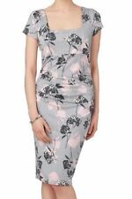 BNWT Phase Eight EDEN Grey/Pink Floral Stretch Jersey Dress Size 18