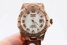 INVICTA PRO DIVER RED GOLDTONE 200M 660 FT AUTO PROFESSTIONAL WRISTWATCH  6436