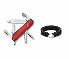 Swiss Army Red Tinker & Paracord Bracelet Set, Victorinox 55109, New In Box