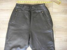 "Langlitz Leathers Motorcycle Pants Black 28""X24"" Wide Hips Goatskin 5 zippers"