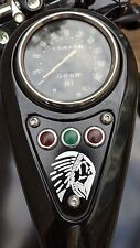 Indian Head Theme Dash Plaque Cover - KAWASAKI  VN800  VULCAN DRIFTER