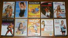 Wholesale Lot 10 Exercise/Fitness DVDs-Tae Bo, KettleWorx, Malibu Pilates, etc..