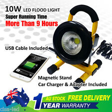 10W 9 hours Rechargeable LED Flood Work Light Portable Caravan Camping Lamp