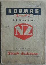 Normag Dieselschlepper Kornett I Betriebsanleitung