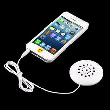 Mini White 3.5mm Pillow Speaker for MP3 MP4 Player For iPhone For iPod Radio QT