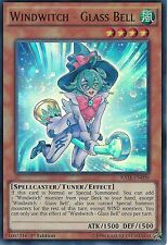 YU-GI-OH CARD: WINDWITCH - GLASS BELL - ULTRA RARE - RATE-EN098 - 1st EDITION