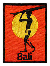 """Bali"" Surfboard Beach Bum Wave Rider Ocean Surf Sew On Applique Patch"