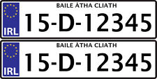 PERSONALISED IRELAND EIRE NUMBER PLATES for kids ride on car Sticker 140x35mm*