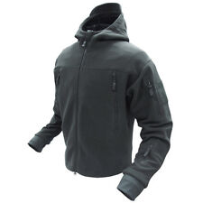 Condor #605 Tactical SIERRA Hooded MicroFleece Jacket BLACK size M Medium
