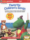 Baby Genius Favorite Children's Songs w/bonus Music CD, New DVD, Artist Not Prov