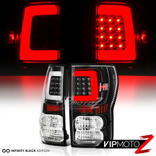 "2007-2013 Toyota Tundra ""NEWEST NEON TUBE"" Black LED Rear Brake Tail Lights Lamp"