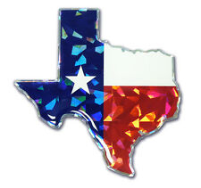 Texas Flag State Shaped Reflective Domed Auto Decal [NEW] NCAA Emblem Car