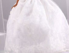HOT NEW Handmade Barbie Party White Clothes/Dress/Skirt/Gown For Barbie Doll 092