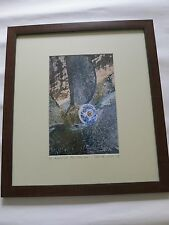 Vintage limited edition framed picture of a boat rudder by Cees de Wilde