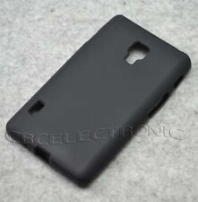 For LG Optimus L7ii P710 Black TPU Matte Gel skin Case Cover