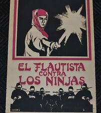 "1988 Original Cuban Movie Poster.Plakat.Affiche""Japan Ninjas""Martial arts.RARE."