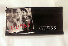 LOT 5 Guess Black Plastic Zip Top Jewelry Watch Pouch
