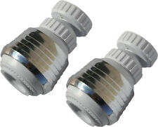 LOT OF 2 NEW SWIVEL SPRAY STREAM AERATOR FAUCET HEAD FOR KITCHEN, UTILITY SINK