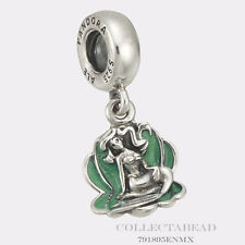 Authentic Pandora Silver Dangle Disney Ariel & Sea Shell Bead 791895EN111