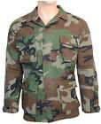 Military RIPSTOP FIELD JACKET All Sizes WOODLAND CAMO Army BDU Camouflage Cotton