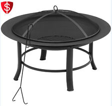 Outdoor Fire Pit Table Heater Firepit Steel Garden Fireplace Backyard Patio