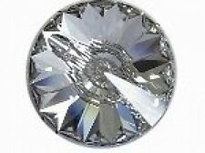 4 x 10mm SWAROVSKI CRYSTAL BUTTON - CLEAR