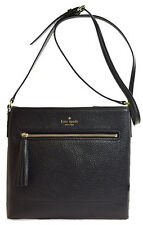 NWT Kate Spade Chester Street Dessi Leather Crossbody Bag Messenger Black Cute!