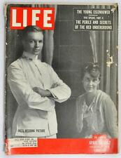 Vintage Life Magazine 1952 April 28 Eisenhower wedding Red Underground Abilene