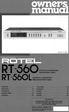 Rotel RT-560L Tuner Owners Manual
