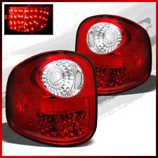 Fits 97-03 Ford F150 Flareside LED Red Clear Tail Lights Lamps Replacement